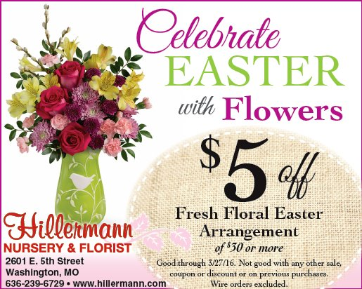 Celebrate Easter with Flowers ad picture and graphic