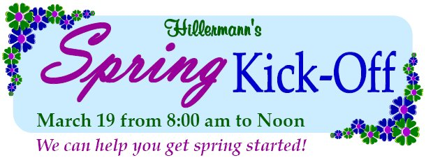 Spring Kick-Off 2016 Heading graphic for Hillermann Nursery and Florist