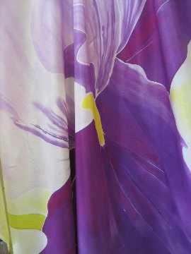 Painted silk scarf by Rose Monsyk