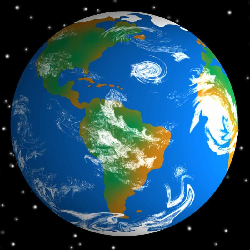 Art picture of the Earth