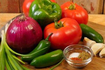 Fresh vegetables for salsa