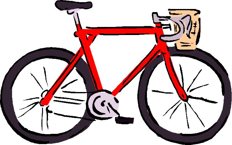 Clip art of a bicycle