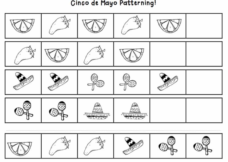 Cinco De Mayo patterning activity page