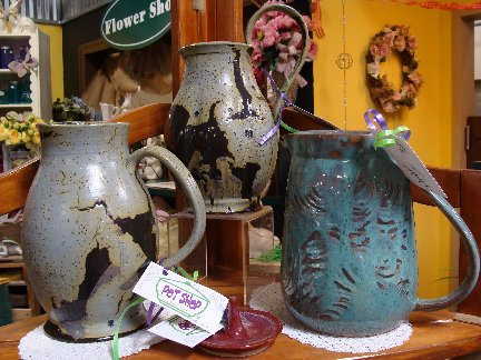 Pottery items created by the Pot Shop inside Hillermann Nursery and Florist