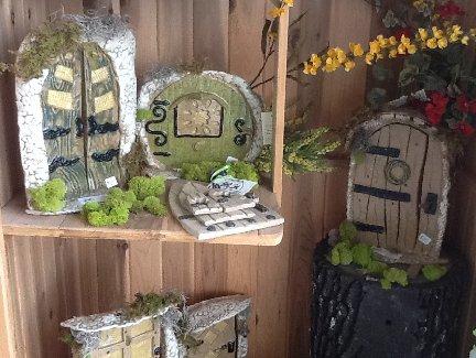Fairy Doors garden decor created by the Pot Shop located inside the Garden Center at Hillermann Nursery and Florist