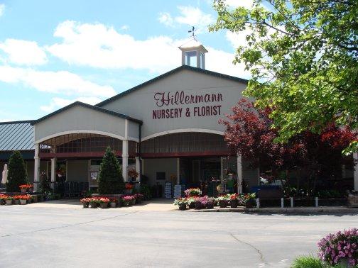 The Garden Center entrance at Hillermann Nursery and Florist in Washington, Missouri