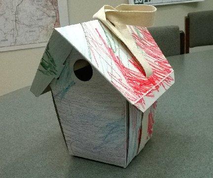 GreenBird Biodegradable birdhouse decorated by son of Hillermann Nursery and Florist employee Kristen
