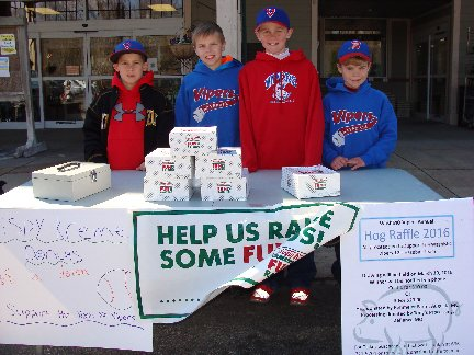 Doughnut fundraising booth by the Vipers 12U Baseball team