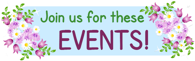 Join us for these Events!  - Heading graphic
