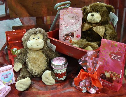 Stuffed animals and candy available at Hillermann Nursery and Florist