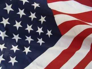 Close shot of a USA Flag