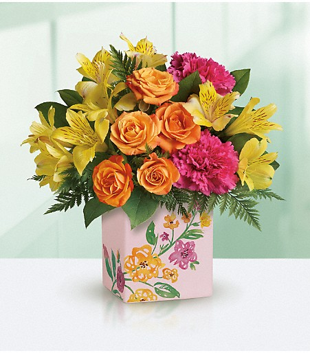 Teleflora Painted Blossoms Bouquet - Call Hillermann Nursery and Florist at 636-239-6729