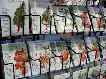 Botanical Interests vegetable seed  packets at Hillermann Nursery and Florist