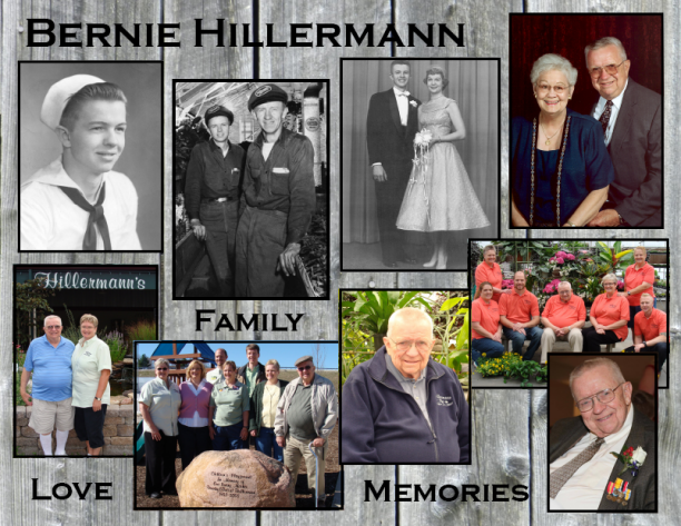 Pictures of Bernie A. Hillermann through the years. Hillermann Nursery and Florist