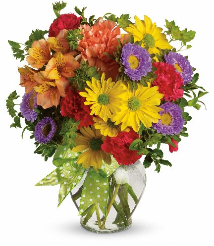 Teleflora Make A Wish floral arrangement available from Hillermann Nursery and Florist