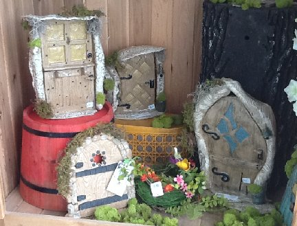 Fairy Doors garden decor created by the Pot Shop located inside the Garden Center at Hillermann Nursery and Florist