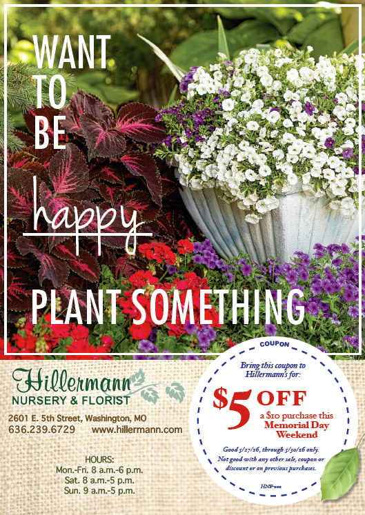 The Hillermann ad in the Missourian on 5-25-16