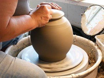 Pottery on Potting Wheel - (c) Pot Shop photo