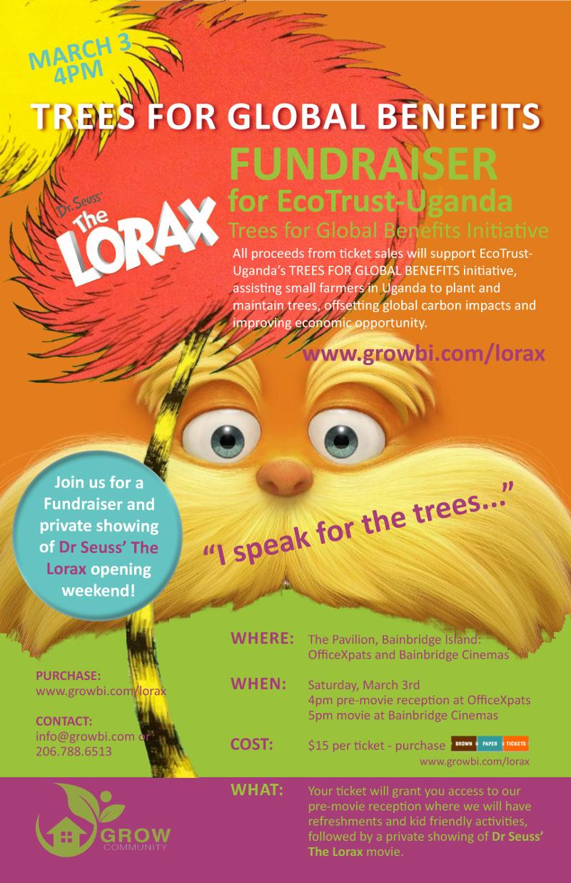 Trees for Global Benefits, LORAX Fundraiser