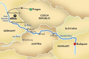 Danube Cruise Map