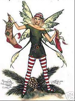 Stocking Faery by Amy Brown