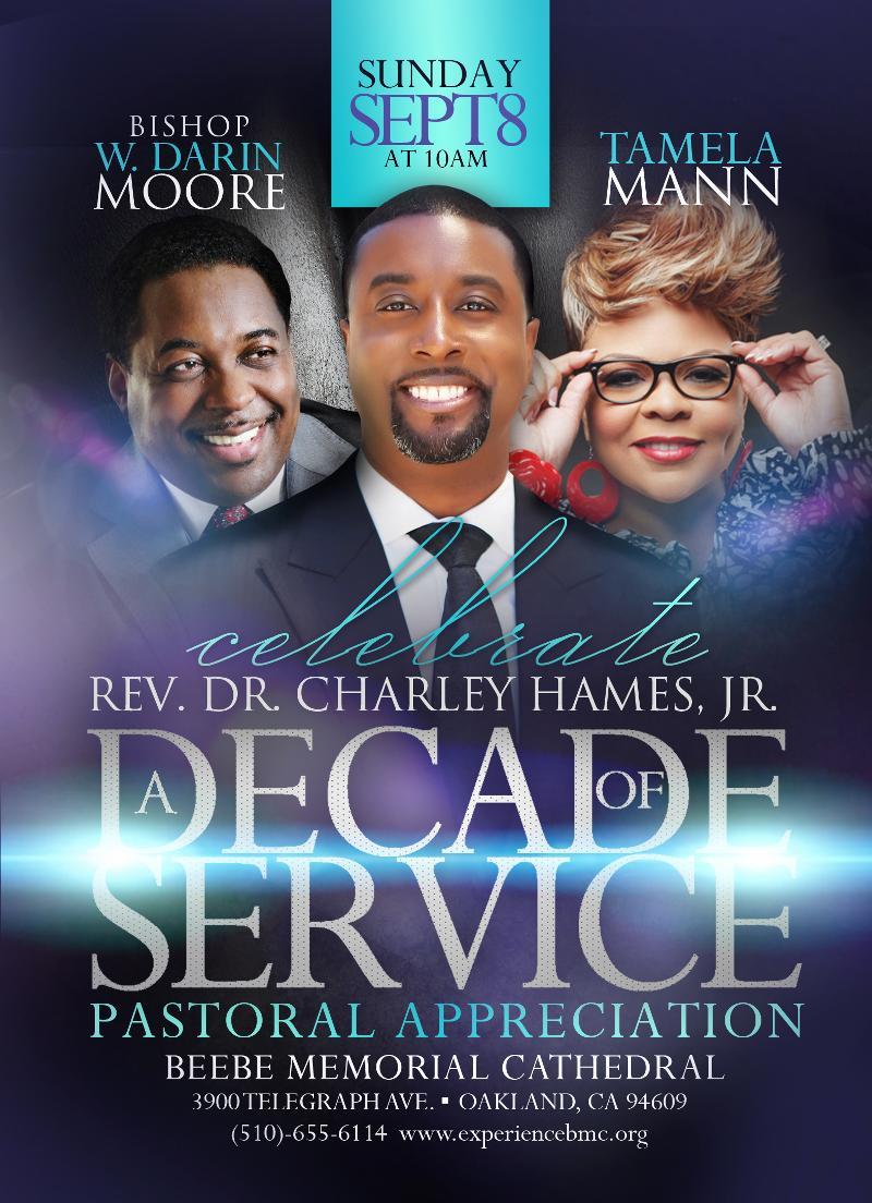 Sunday, September 8 | Bishop W. Darin Moore and Tamela Mann at BMC!