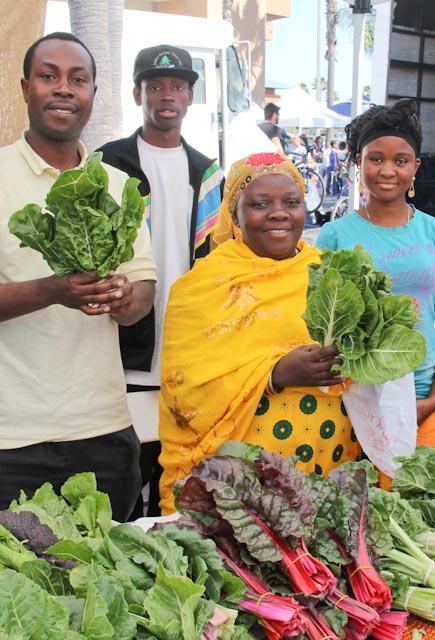 Hamadi Jumale, president of the Somali Bantu Community Organization of San Diego, at City Heights Farmer's Market