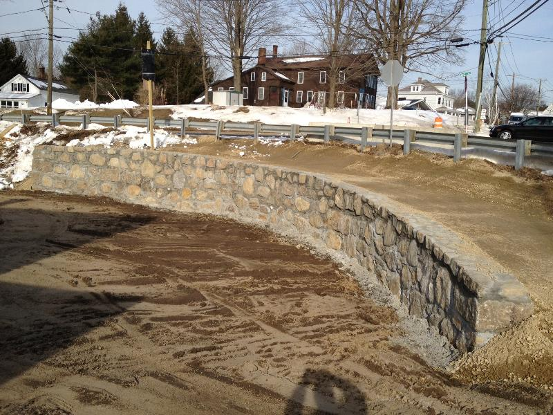 New retaining wall West Street