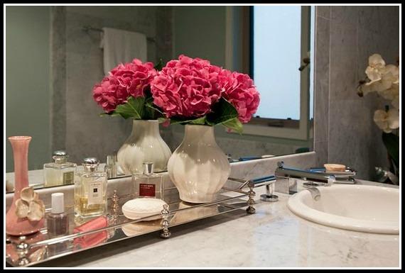Flowers in bathroom