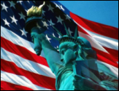 Flag - Statue of Liberty
