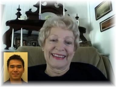 Carol Howe with Kenneth Bok
