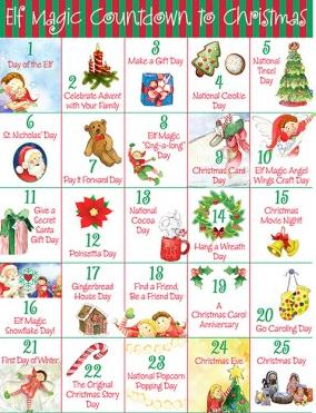 we are so very 25 days of christmas calendar