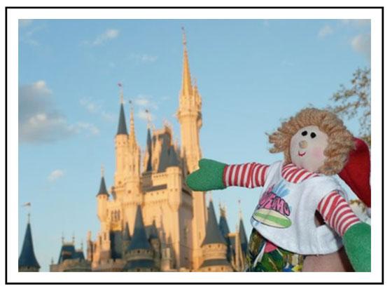Elf goes to Disney