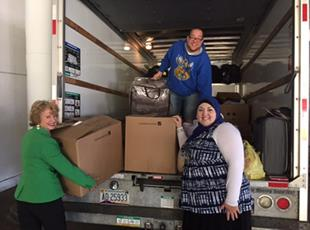 respond, and deliver items to CWS refugee partners in Nebraska