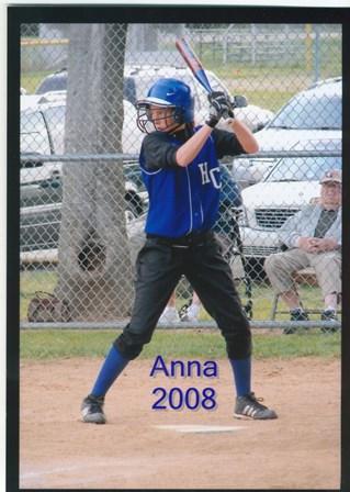 Anna at the bat