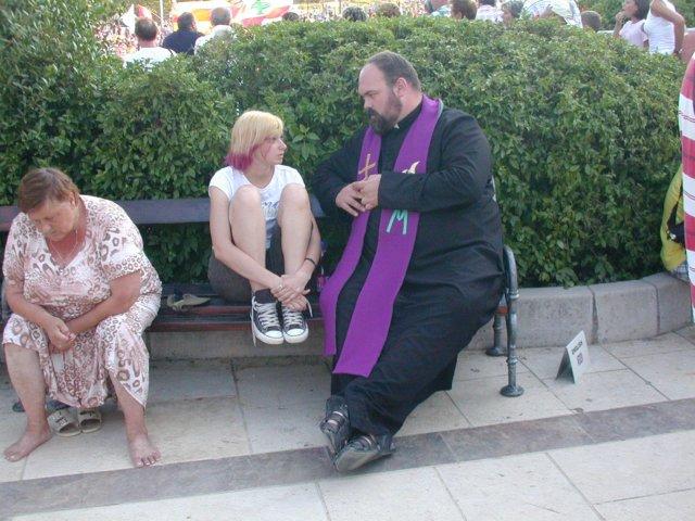 Confession in Medjugorje