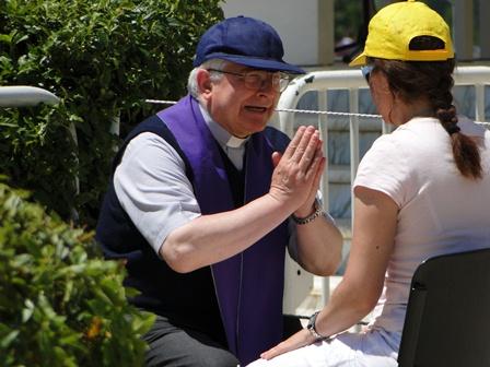Confession in Medjugorje 2011