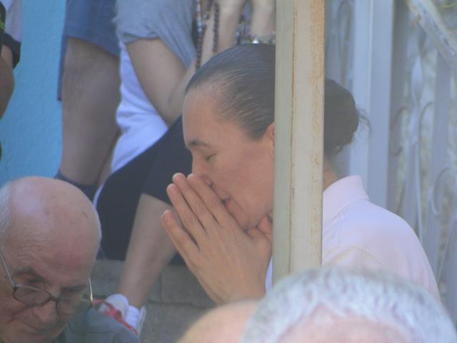 Vicka in prayer