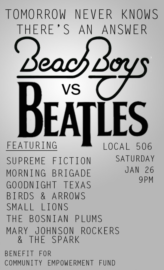 Beatles vs Beach Boys Benefit Show