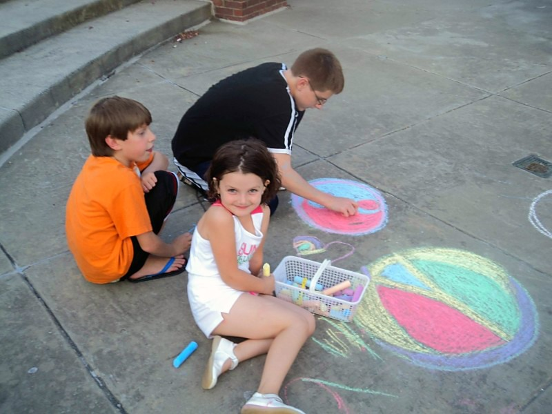 Chalk Drawing at LOCALLY GROWN