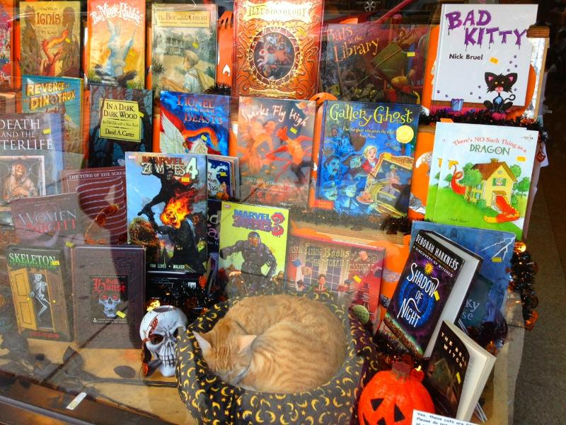 The Bookshop Halloween display