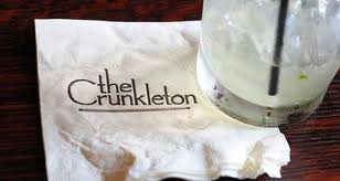 The Crunkleton - napkin & drink