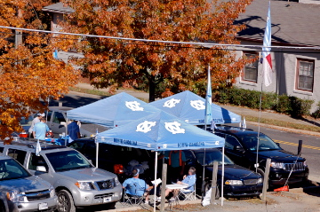 Tailgating on Rosemary Street