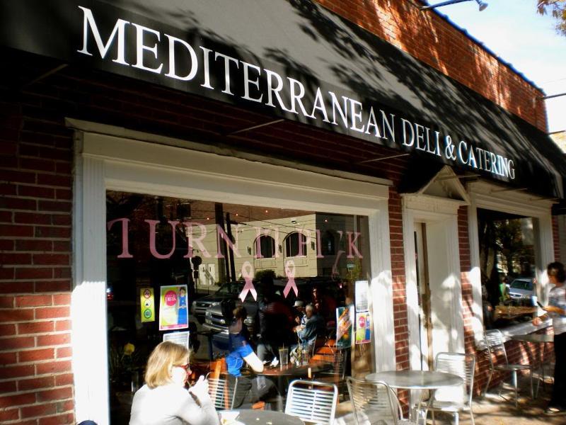 Sidewalk dining at Med Deli