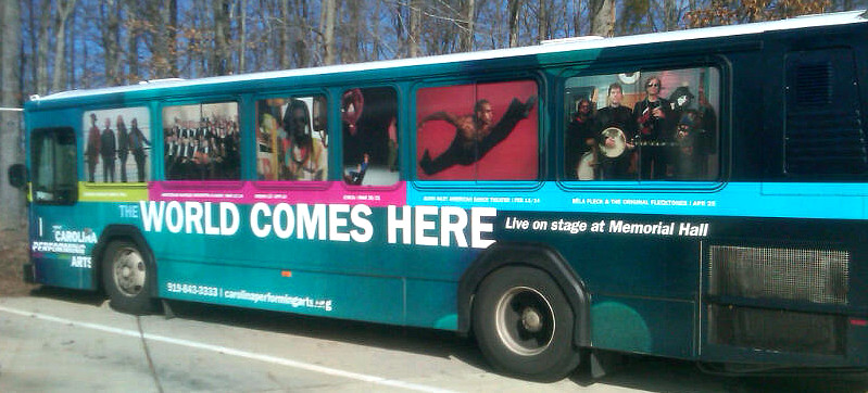 Carolina Performing Arts - bus