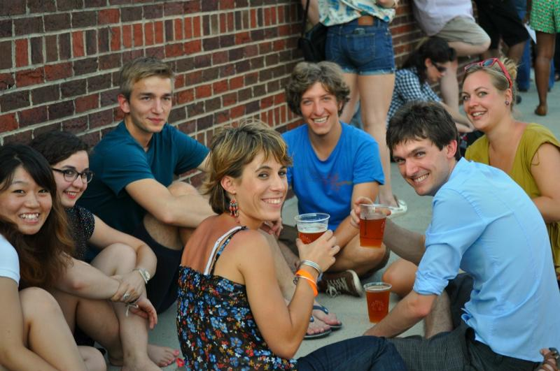 Friends Enjoying New Belgium Beer at LG Concert