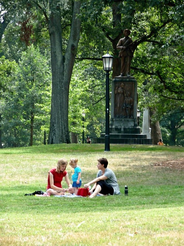 Family Picnic on McCorkle Place