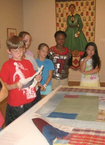 Children exploring Ackland exhibit