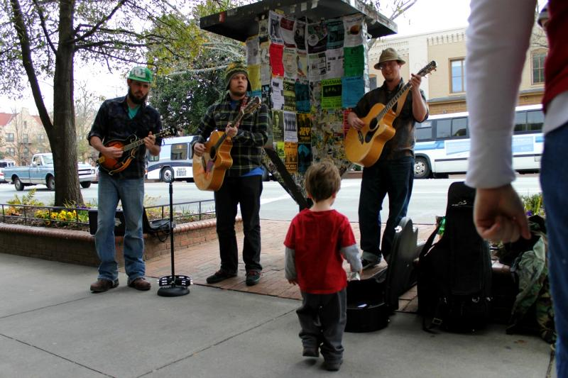 Musicians on Franklin Street