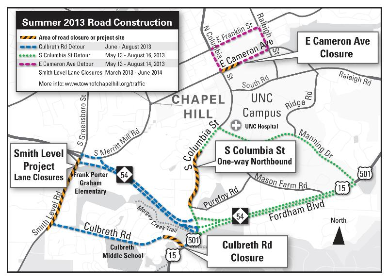 Summer Construction & Traffic Map 2013